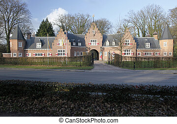 entrance building of Huis Doorn in the Netherlands