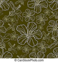 seamless pattern - Vector seamless floral vintage pattern