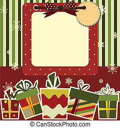 Christmas background. Empty frame with the space for your...
