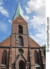 Protestant church - Protestant Nikolai church in Kiel...