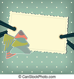 Vector greeting card with christmas trees
