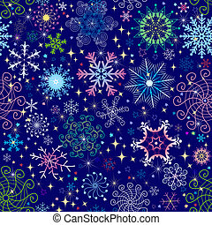 Christmas seamless pattern - Christmas dark blue seamless...