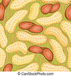 peanuts seamless background - vector pod red peanuts...