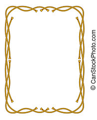 frame from rope isolated on white - vector frame from rope...