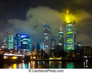 Frankfurt am Main by night - cityscape of Frankfurt am Main...