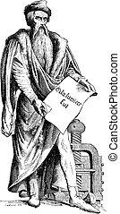Johannes Gensfleisch zur Laden zum Gutenberg bronze statue...