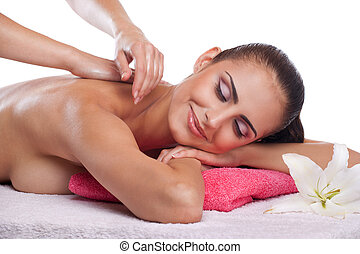 brunette spa woman
