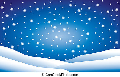Snow fall - Winter background: snow fall - vector...