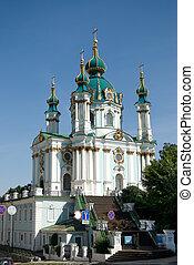 St Andrew Church - Saint Andrew orthodox church in Kiev,...