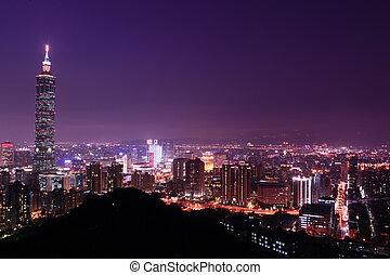 taipei city night view