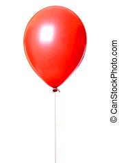 Balloon - Red balloon isolated on white