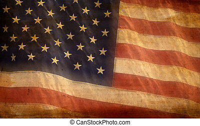 American Flag Background - Patriotic American flag...