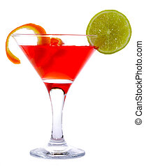 Cosmopolitan - Classic Cosmopolitan Cocktail isolated on...