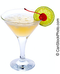 Daiquiri - Classic Daiquiri Cocktail isolated on white...