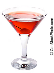 Manhattan - Classic Manhattan or Rob Roy Cocktail isolated...