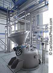 industrial equipment - Modern machinery in a pharmaceutical...