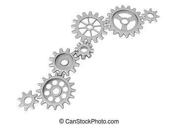Cogwheels - Different Cogwheels isolated on white background