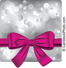 Bokeh background with pink ribbon - Bokeh silver background...