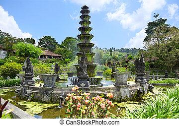 Tirtagangga - Royal Pools Tirthagangga, Bali island,...