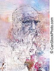 Picture with Leonardo da Vinci - Picture with the image of...