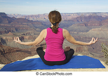 Meditation and Praise - a woman giving praise and meditation...