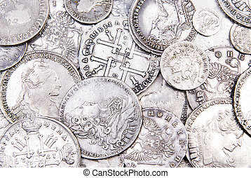 Old coins background - Old silver coins background Old...