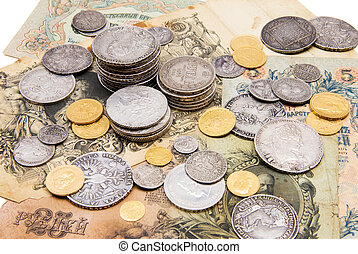 Old russian money - A collection of russian money gold and...