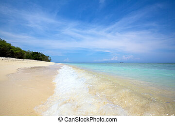 Sand beach - Surf on a tropical sand beach
