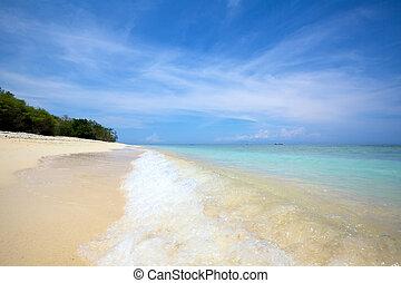 Sand beach - Surf on a tropical sand beach