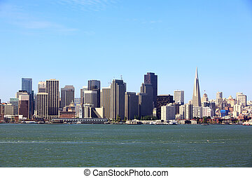 San Francisco Skyline - Morning view of San Francisco...