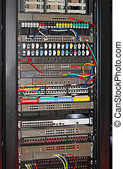 Data center - Rack mounted data center and network hub