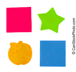 multicoloured post it notes - multicolored paper stickers...