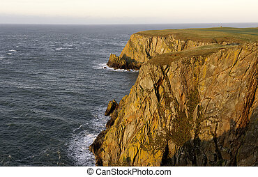 Cliffs - Mull of Galloway clifffs at the southernmost point...