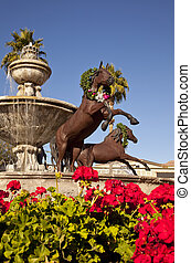 Famous Scottsdale Fountain - Famous fountain in downtown...
