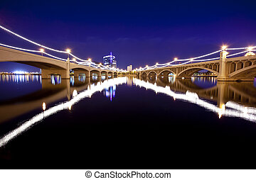 Tempe Arizona Bridges - Mill Avenue Bridges in Tempe Arizona...