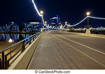 Bridge to Downtown Tempe Arizona - Mill Avenue Bridge...