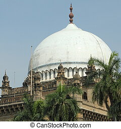 dome - ornamental dome -detail of The Chhatrapati Shivaji...
