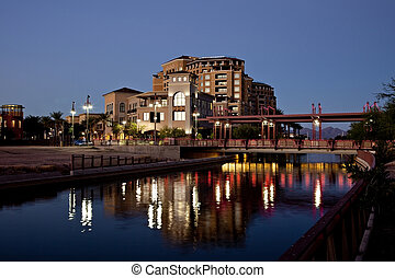 Scottsdale Arizona Waterfront - Buildings along the Salt...