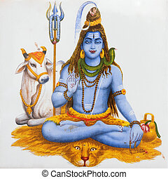 image of hindu god Shiva - ancient image of Shiva, hindu...