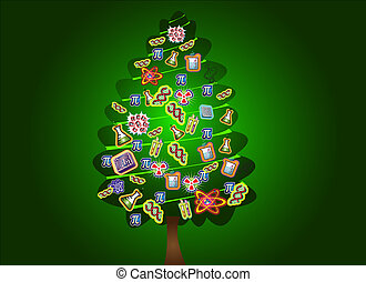 Stock Illustration of scientific christmas tree(green) - science ...