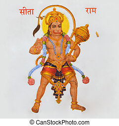 image of hindu god Hanuman - ceramic tile with image of...