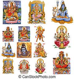composición, hindú, dioses