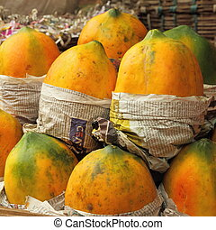 mango fruit on indian market in Mumbai Bombay