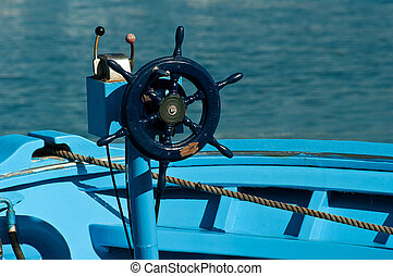 rudder - Blue rudder in Ischia island (Lacco Ameno)