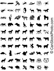 icon animals - ?o%u0131k icons in a variety of animals