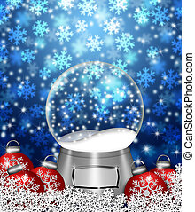 Snow Globe Blank and Christmas Tree Ornaments