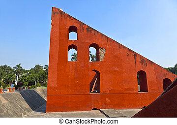 astronomique, observatoire, Jantar, Mantar, Delhi