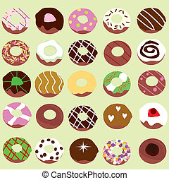 doughnut background for birthdays, party, food industry and...