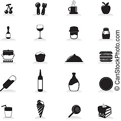 food and drink icons for party, occasion, and others