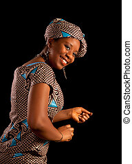 Dancing Ghanese woman - Beautiful young Ghanese african...